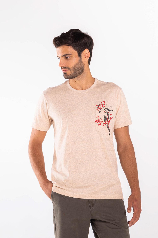 T-Shirt-Guarana---Areia---Tamanho-P