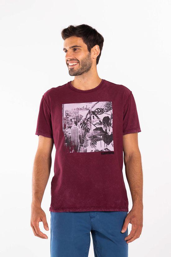 T-Shirt-Silk-Dupla-Face-Urban-Chaos---Vinho---Tamanho-P