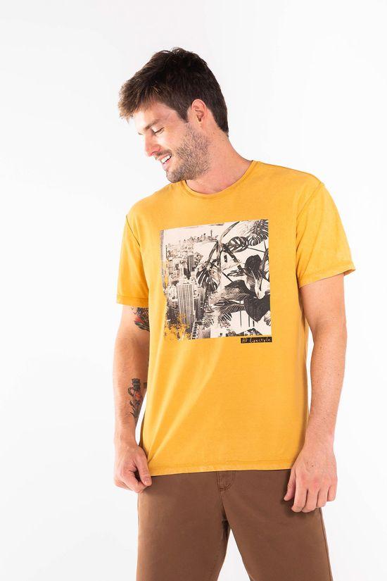 T-Shirt-Silk-Dupla-Face-Urban-Chaos---Mostarda---Tamanho-P