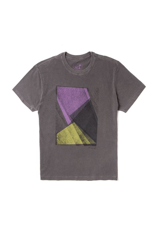 T-Shirt-Geometrico-Abstrato-Chumbo