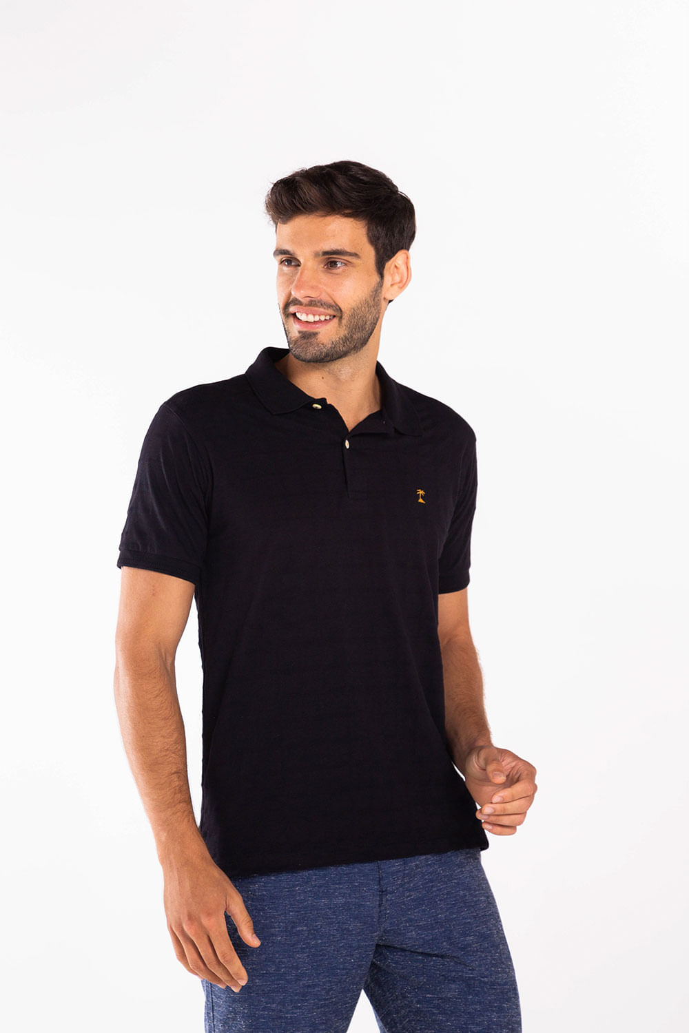 Polo-Jacquard-Joatinga---Black-72517BK