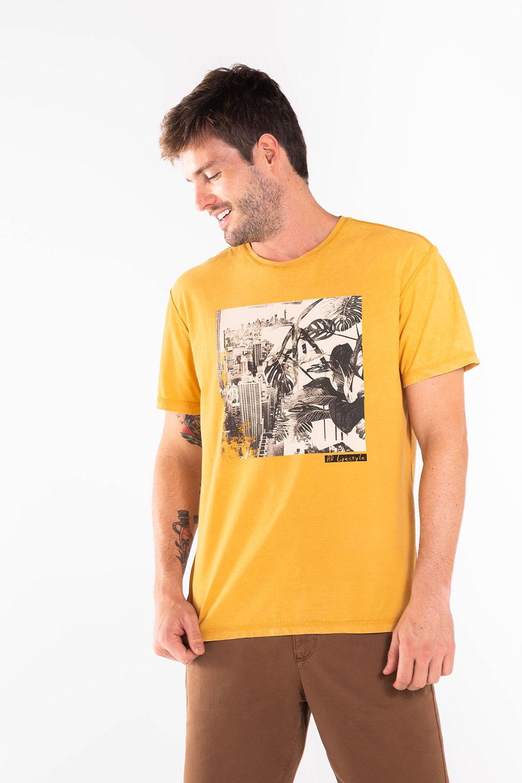 T-Shirt-Silk-Dupla-Face-Urban-Chaos---Mostarda-72326MO